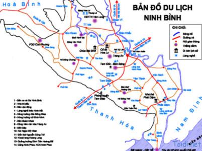 bản đồ du lịch tràng an bái đính