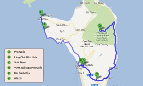 bản đồ du lịch phú quốc kiên giang